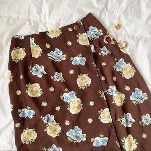 Vintage High Waisted Long Skirt